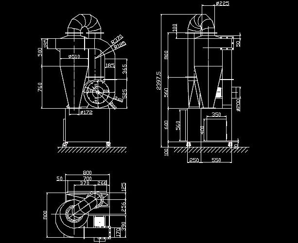 旋风除尘器结构图